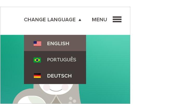 sites multilingues e internacionais