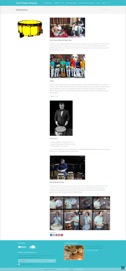 carldixondrums.com - website by Samadhi Web Design - samadhiwebdesign.com
