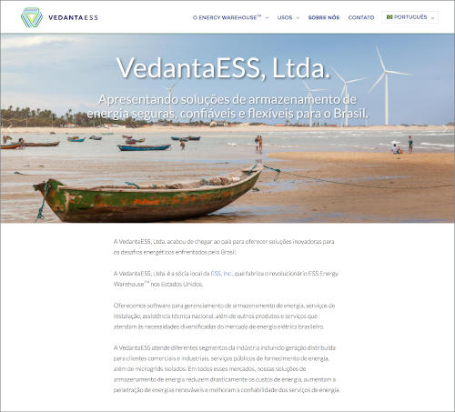 Sample page from vedantaess.com