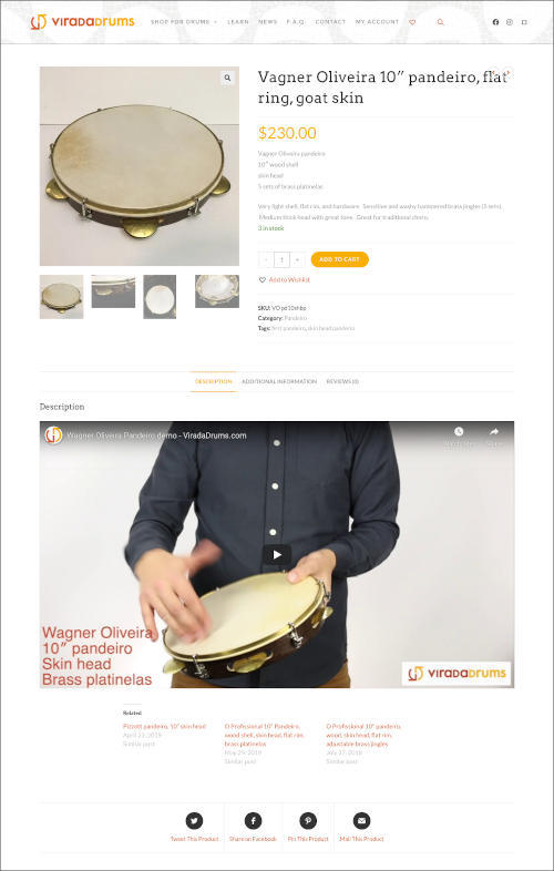 Sample page from viradadrums.com